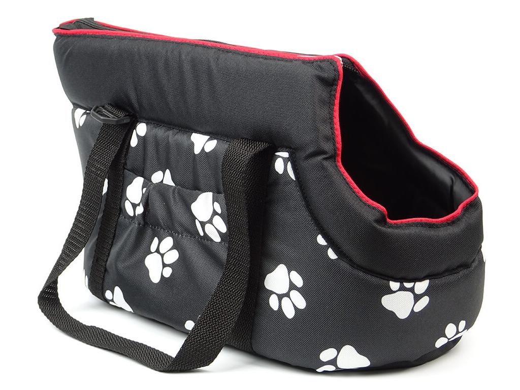 Nice černá taška pro psa tlapka - tašky pro psy - vsepropejska.cz