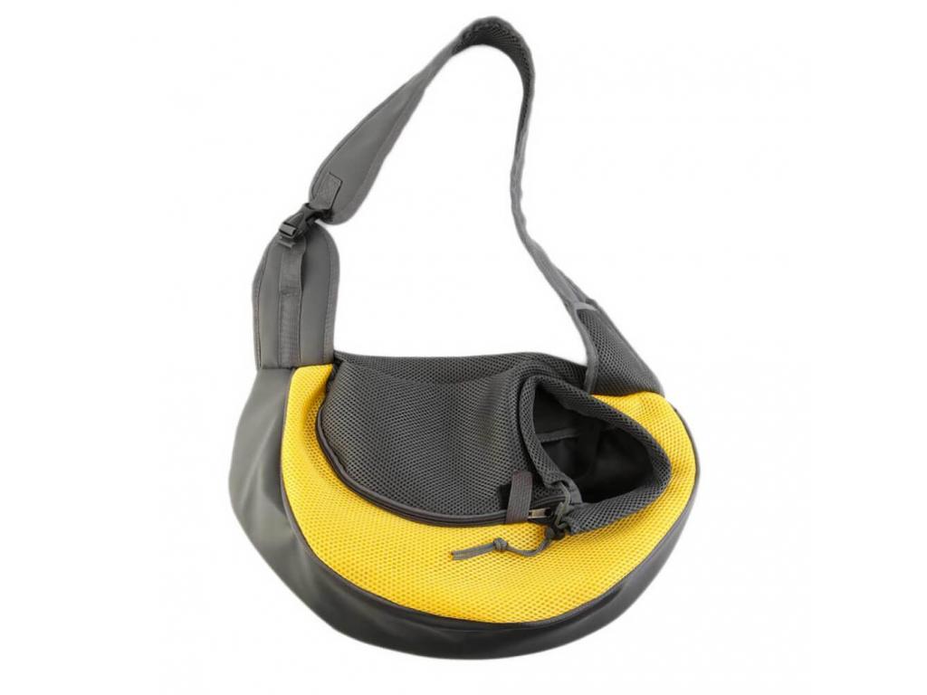 Travel žlutá taška pro psa přes rameno - tašky pro psy - vsepropejska.cz