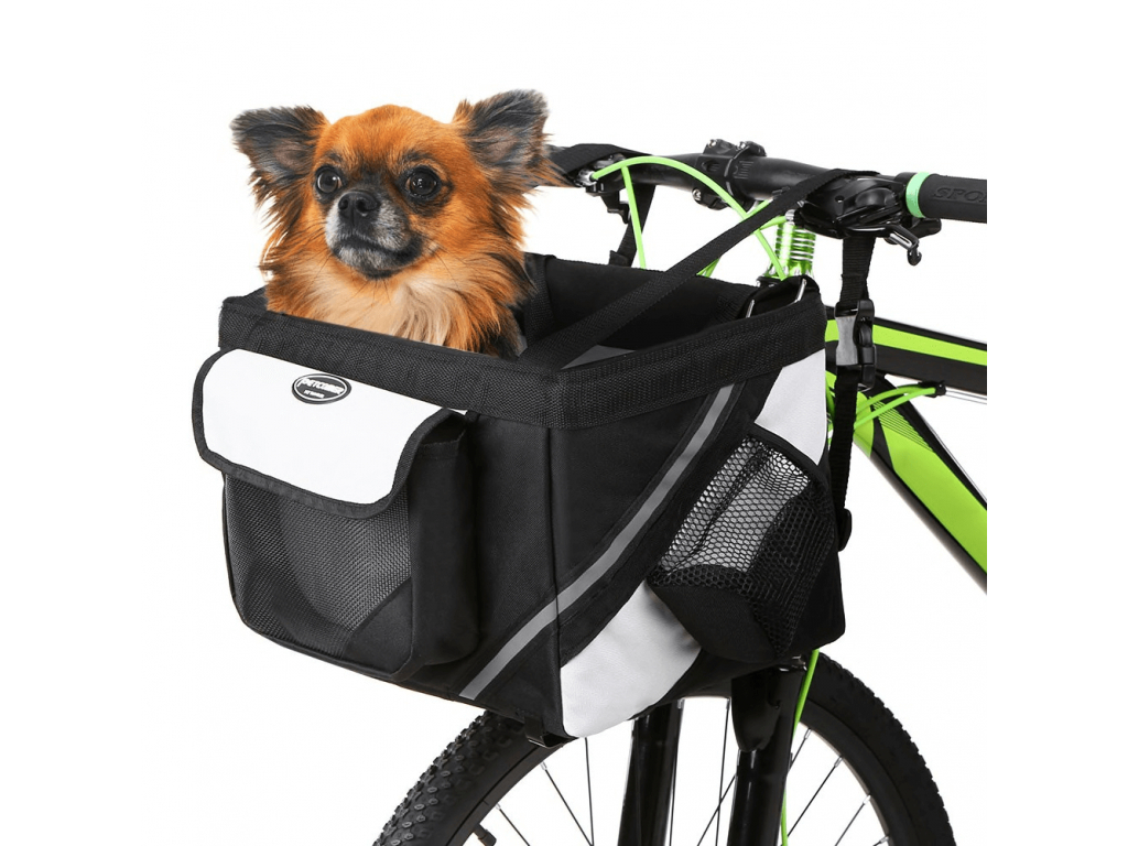 Mike černý košík na kolo pro psa - košíky pro psy - vsepropejska.cz