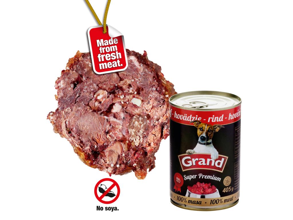 Grand superpremium hovězí konzerva pro psa | 405g - vsepropejska.cz