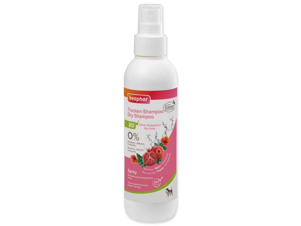 Beaphar šampon BIO suchý šampon ve spreji 200 ml - vsepropejska.cz