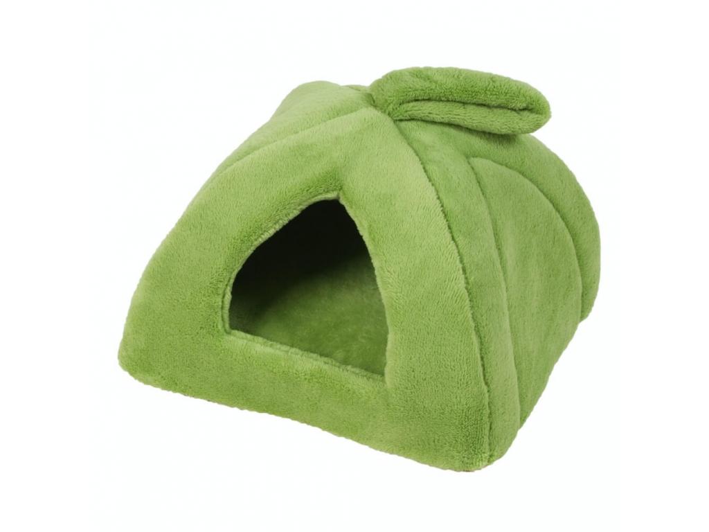 House zelené iglú pro psa z fleecu - iglú pro psy - vsepropejska.cz