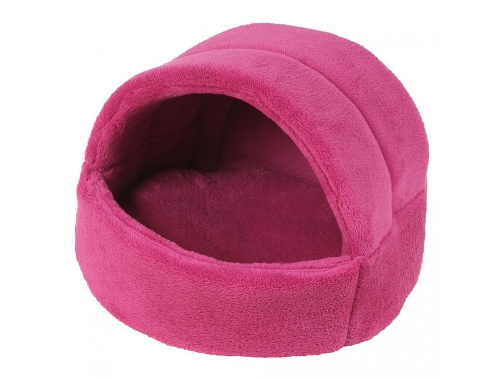 Coral růžové iglú pro psa z fleecu - iglú pro psy - vsepropejska.cz