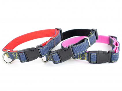 Jeans obojek pro psa | 22 – 47 cm