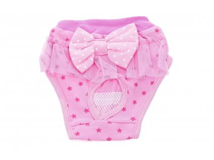 Cute růžové hárací kalhotky pro psa - hárací kalhotky - vseporpejska.cz