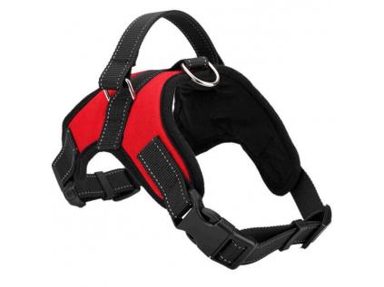 Sporty červený sportovní postroj pro psa   45 – 91 cm