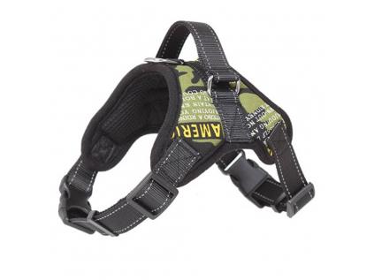 Sporty černo-zelený sportovní postroj pro psa | 45 – 91 cm