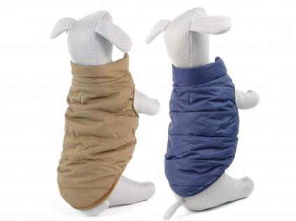 Navy zimní bunda pro psa s kožíškem - bundy pro psy - vsepropejska.cz