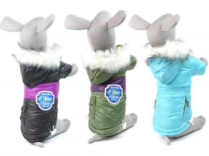 Coat zimní bunda pro psa s kapsami - bundy pro psy - vsepropejska.cz