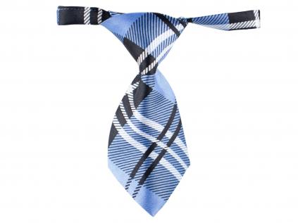 Černo-modrá károvaná kravata pro psa - kravaty pro psy - vsepropejska.cz