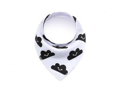 Cloud bílo-černý šátek pro psa s obláčkem - šátky pro psy - vsepropejska.cz