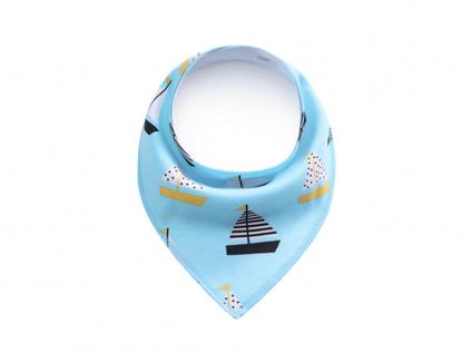 Boat modrý šátek pro psa - šátka pro psy - vsepropejska.cz