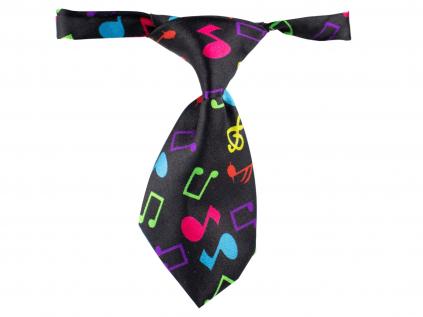 Music černá kravata pro psa - kravaty pro psy - vsepropejska.cz