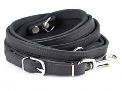 Lux černé přepínací vodítko pro psa   230 cm