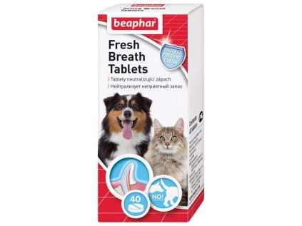 Beaphar tablety pro svěží dech s chlorofylem 40 ks - vsepropejska.cz