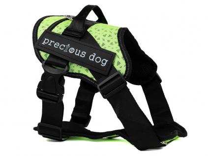 Precious žlutý sportovní postroj pro psa | 62 – 100 cm