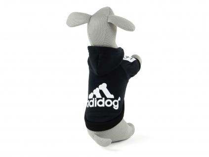 Adidog černá mikina pro psa - oblečky pro psy - vsepropejska.cz