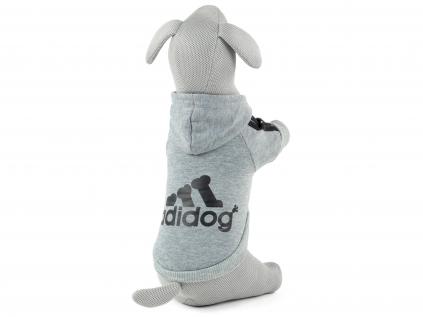 Adidog šedá mikina pro psa - oblečky pro psy - vsepropejska.cz