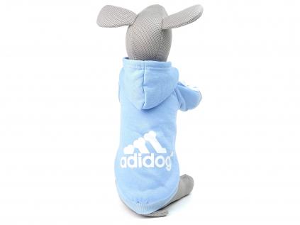 Adidog světle modrá mikina pro psa - oblečky pro psy - vsepropejska.cz