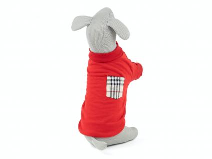 Bady červená mikina pro psa - oblečky pro psy - vsepropejska.cz