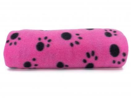 Nora růžová fleecová deka pro psa - vsepropejska.cz