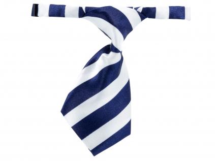 Baky modro-bílá kravata pro psa s proužky - kravaty pro psy - vsepropejska.cz