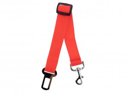 Červený bezpečnostní pás pro psa