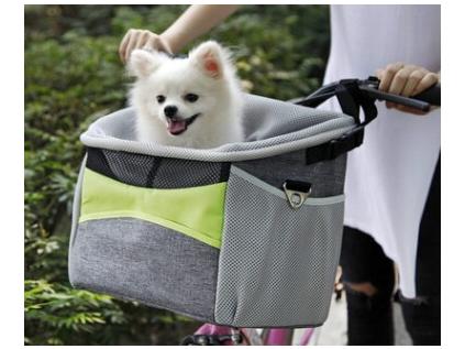 Dave šedý košík na kolo pro psa - košíky na kolo pro psy - vsepropejska.cz