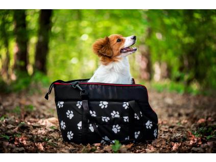 Nice černá taška pro psa tlapka