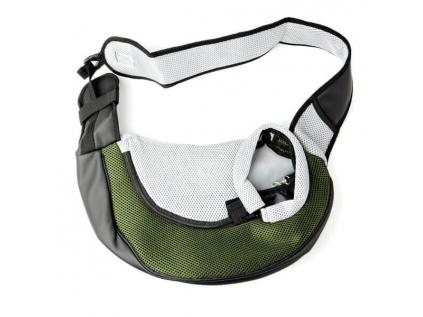 Travel tmavě zelená taška pro psa přes rameno - tašky na psy - vsepropejska.cz