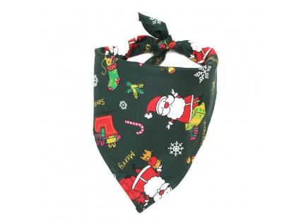 Vánoční zelený šátek pro psa