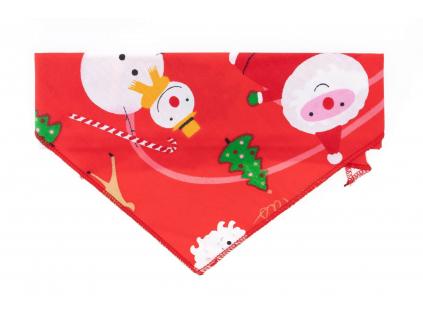 Vánoční červený šátek pro psa