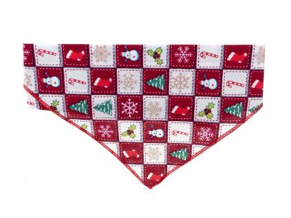 Vánoční barevný šátek pro psa - vsepropejska.cz