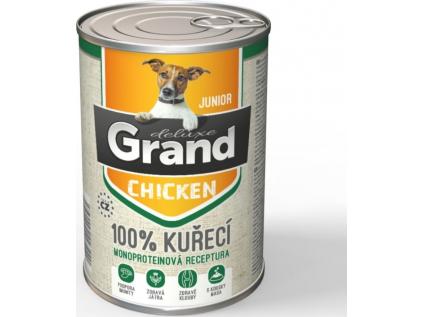 Grand deluxe 100% kuřecí konzerva pro psa junior - vsepropejska.cz