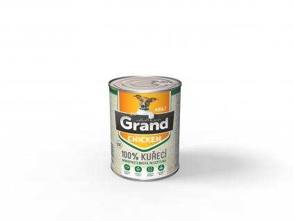 Grand deluxe 100% kuřecí konzerva pro psa adult | 400g - vsepropejska.cz