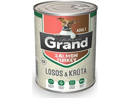 grand deluxe 100 losos kruta konzerva pro psa adult 400g