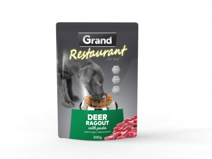 Grand restaurant jelení ragú s těstovinami kapsička pro psy | 300g - vsepropejska.cz