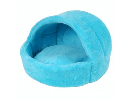 Coral světle-modré iglú pro psa z fleecu - kukaně pro psy - vsepropejska.cz