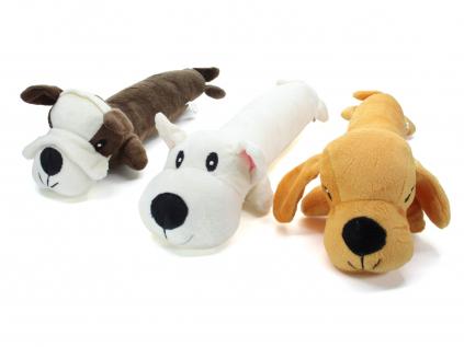 Štaflík plyšový pes pro psa   34 cm - pískací hračka pro psa - vsepropejska.cz
