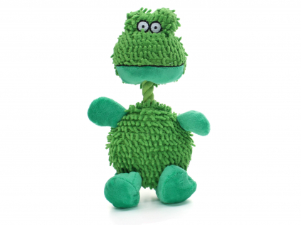 Silky zelená žába pro psa - hračka žába pro psa - vsepropejska.cz