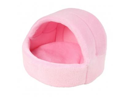 Coral světle-růžové iglú pro psa z fleecu - kukaně pro psy - vsepropejska.cz