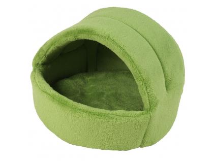 Coral zelené iglú pro psa z fleecu - kukaně pro psy - vsepropejska.cz