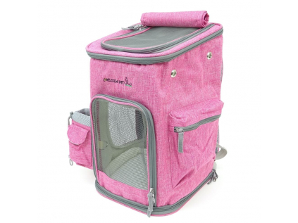 Alley tmavě-růžový luxusní batoh pro psa - batohy pro psy - vsepropejska.cz