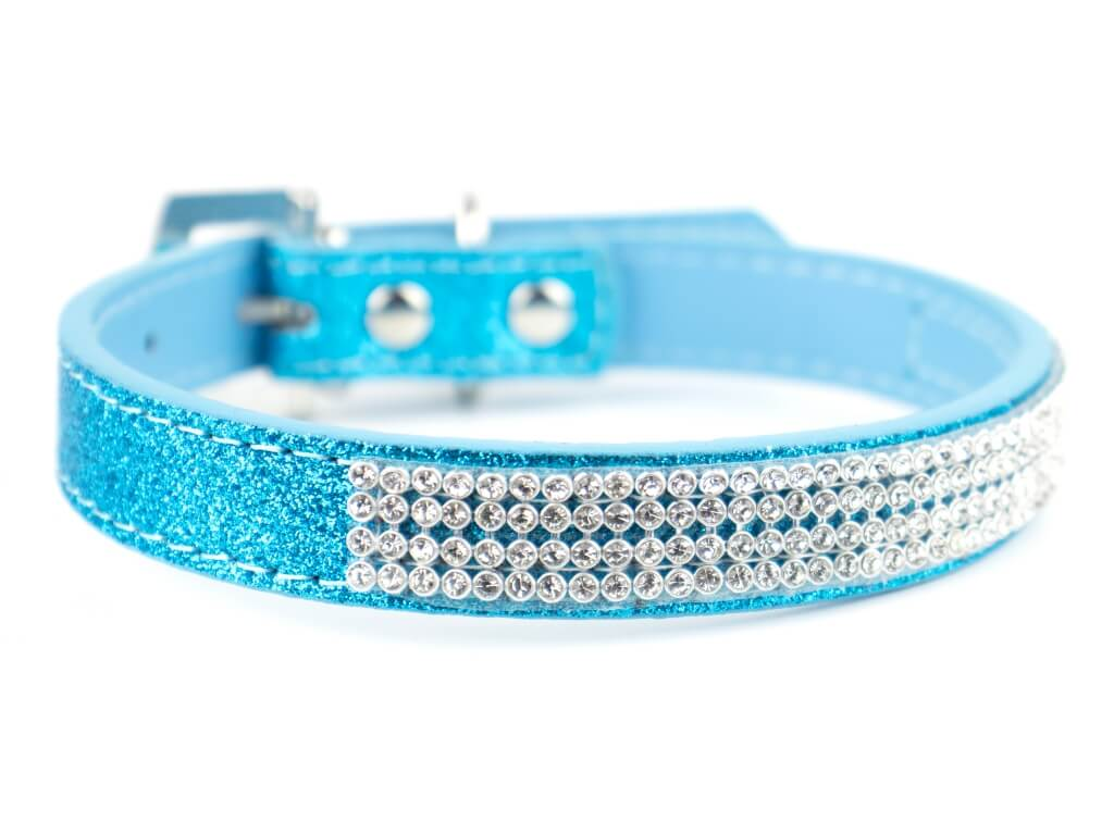 Vsepropejska Casual třpytivý obojek pro psa | 19 - 43 cm Barva: Modrá, Obvod krku: 36 - 43 cm