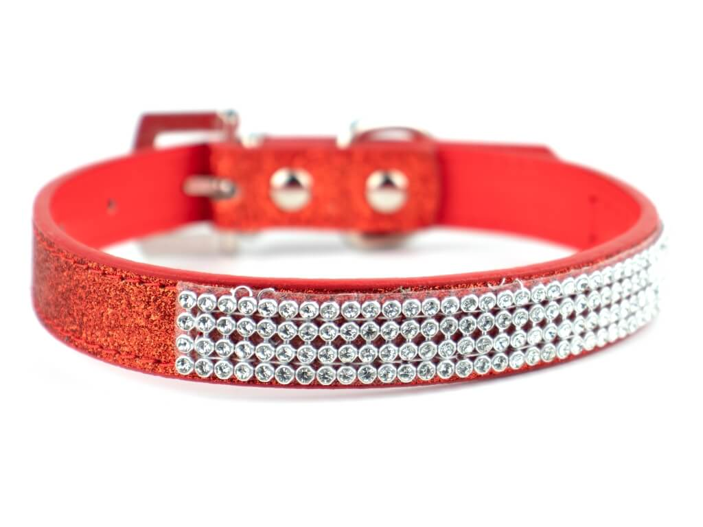 Vsepropejska Casual třpytivý obojek pro psa | 19 - 43 cm Barva: Červená, Obvod krku: 19 - 26 cm