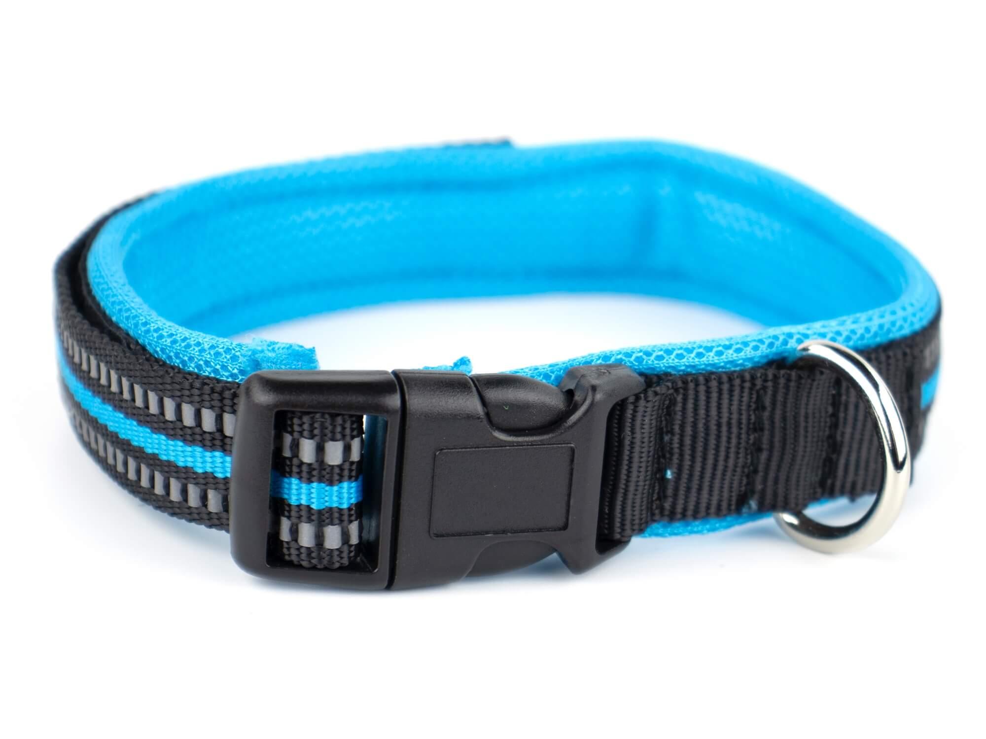 Vsepropejska Lining obojek s podšívkou | 34 - 48 cm Barva: Černo-modrá, Obvod krku: 34 - 39 cm