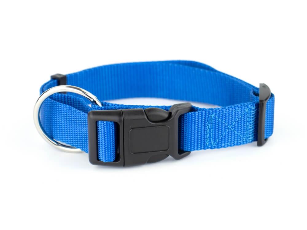 Vsepropejska Get nylonový stahovací obojek | 26 - 54 cm Barva: Modrá, Obvod krku: 33 - 54 cm