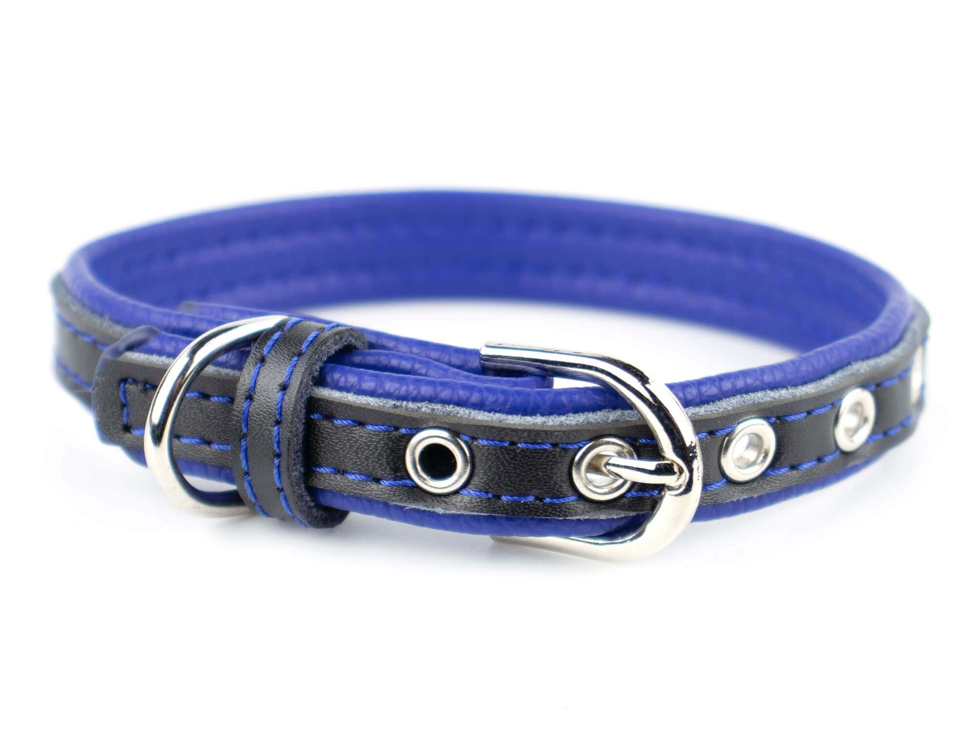 Vsepropejska Rose obojek pro psa | 22 - 34 cm Barva: Černo-modrá, Obvod krku: 22 - 27 cm