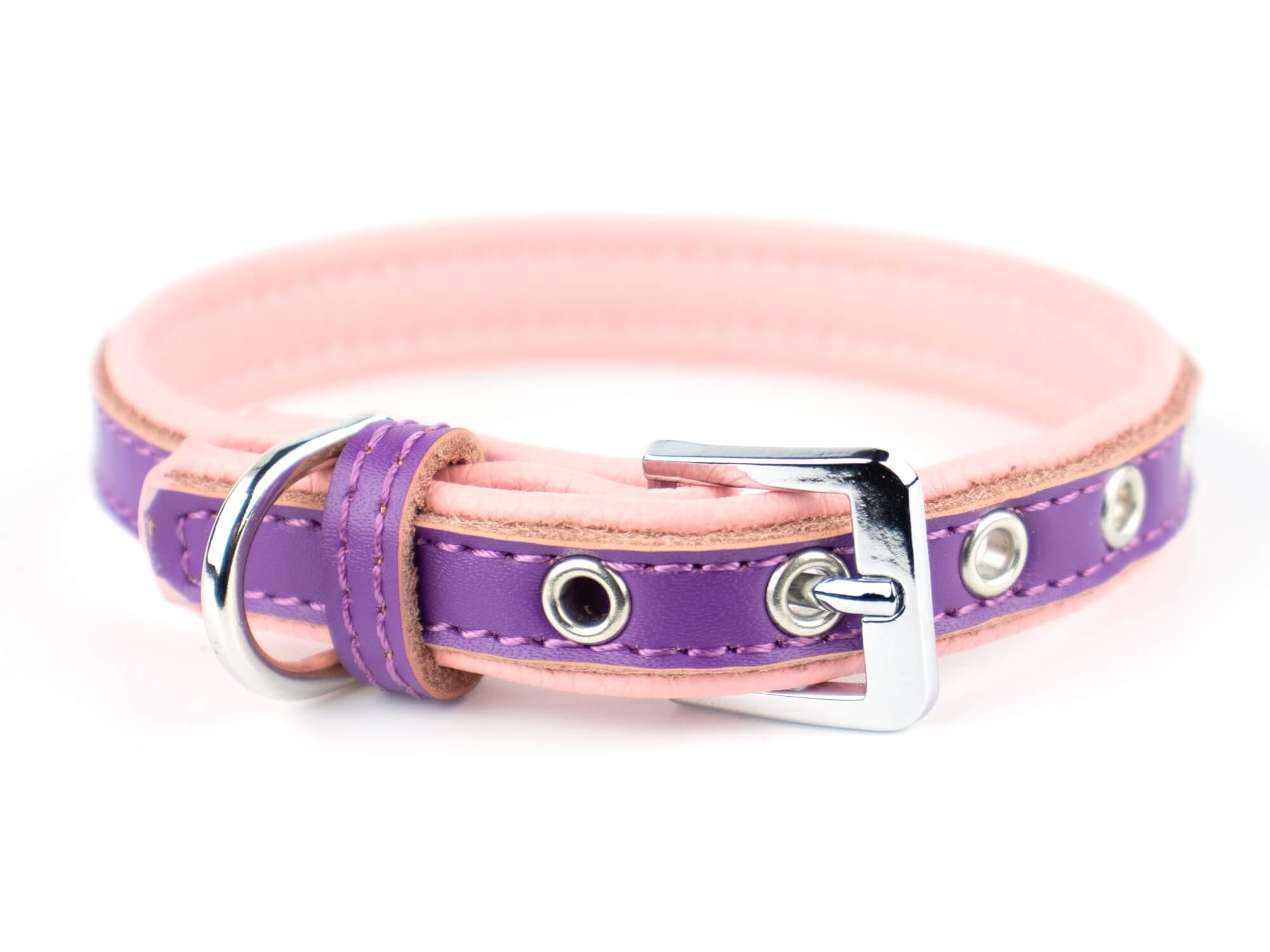 Vsepropejska Rose obojek pro psa | 22 - 34 cm Barva: Fialovo-růžová, Obvod krku: 22 - 27 cm