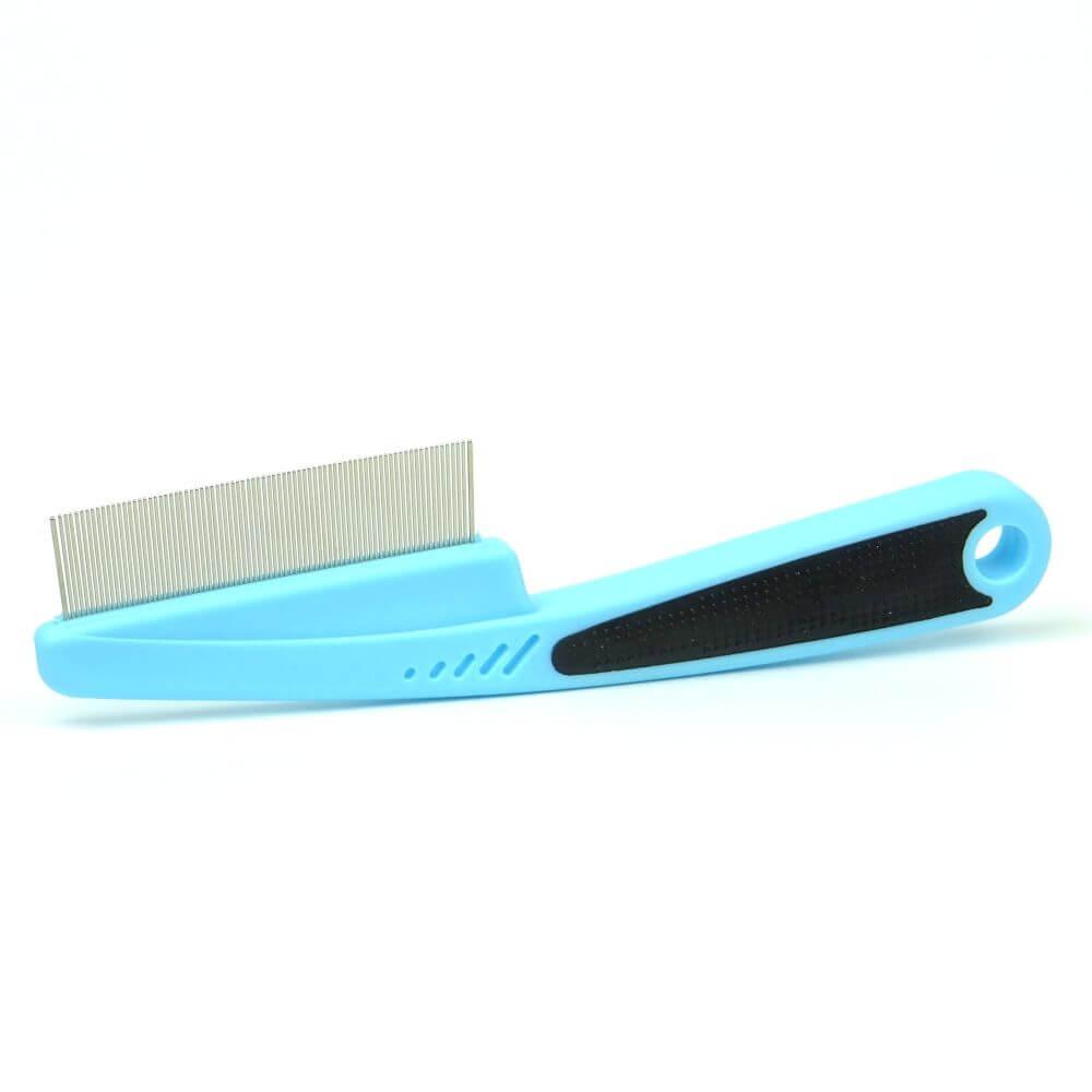 Vsepropejska Hugo hřeben pro psa na blechy Mini | 14 cm Barva: Modrá, Rozměr: 18 cm